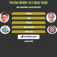Florian Mader vs Lukas Grgic h2h player stats