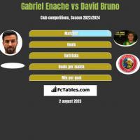 Gabriel Enache vs David Bruno h2h player stats