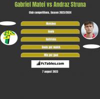 Gabriel Matei vs Andraz Struna h2h player stats