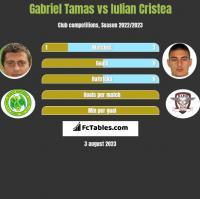 Gabriel Tamas vs Iulian Cristea h2h player stats