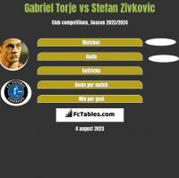 Gabriel Torje vs Stefan Zivkovic h2h player stats