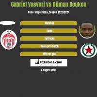 Gabriel Vasvari vs Djiman Koukou h2h player stats