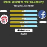 Gabriel Vasvari vs Peter Gal-Andrezly h2h player stats