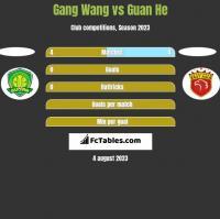 Gang Wang vs Guan He h2h player stats