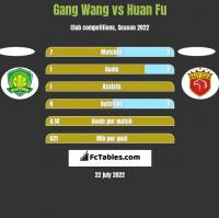 Gang Wang vs Huan Fu h2h player stats