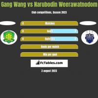 Gang Wang vs Narubodin Weerawatnodom h2h player stats