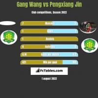 Gang Wang vs Pengxiang Jin h2h player stats