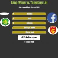 Gang Wang vs Tenglong Lei h2h player stats