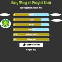 Gang Wang vs Pengfei Shan h2h player stats