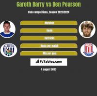Gareth Barry vs Ben Pearson h2h player stats