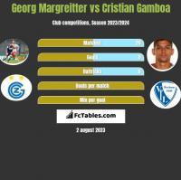 Georg Margreitter vs Cristian Gamboa h2h player stats