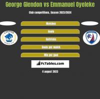 George Glendon vs Emmanuel Oyeleke h2h player stats
