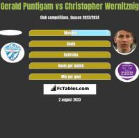Gerald Puntigam vs Christopher Wernitznig h2h player stats