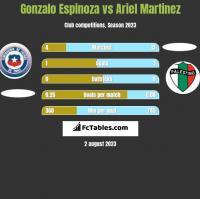 Gonzalo Espinoza vs Ariel Martinez h2h player stats
