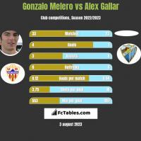 Gonzalo Melero vs Alex Gallar h2h player stats