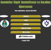 Gunnleifur Vignir Gunnleifsson vs Haraldur Bjoernsson h2h player stats