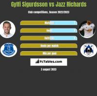 Gylfi Sigurdsson vs Jazz Richards h2h player stats