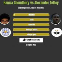Hamza Choudhury vs Alexander Tettey h2h player stats