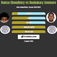 Hamza Choudhury vs Boubakary Soumare h2h player stats