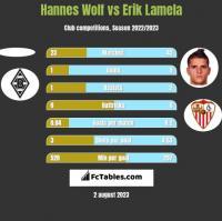 Hannes Wolf vs Erik Lamela h2h player stats