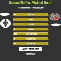 Hannes Wolf vs Michael Liendl h2h player stats