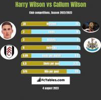 Harry Wilson vs Callum Wilson h2h player stats