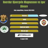 Hoerdur Bjoergvin Magnusson vs Igor Diveev h2h player stats