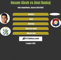 Hosam Aiesh vs Anel Raskaj h2h player stats