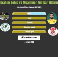 Ibrahim Sehic vs Muammer Zulfikar Yildirim h2h player stats