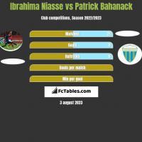 Ibrahima Niasse vs Patrick Bahanack h2h player stats