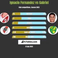 Ignacio Fernandez vs Gabriel h2h player stats