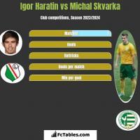 Igor Haratin vs Michal Skvarka h2h player stats