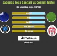 Jacques Zoua Daogari vs Cosmin Matei h2h player stats