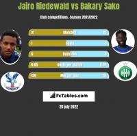 Jairo Riedewald vs Bakary Sako h2h player stats