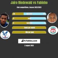 Jairo Riedewald vs Fabinho h2h player stats