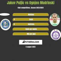 Jakov Puljic vs Ognjen Mudrinski h2h player stats