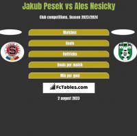 Jakub Pesek vs Ales Nesicky h2h player stats