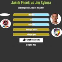 Jakub Pesek vs Jan Sykora h2h player stats