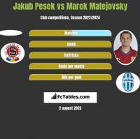 Jakub Pesek vs Marek Matejovsky h2h player stats