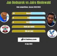 Jan Bednarek vs Jairo Riedewald h2h player stats