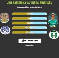 Jan Kalabiska vs Lukas Budinsky h2h player stats