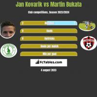 Jan Kovarik vs Martin Bukata h2h player stats