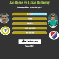 Jan Rezek vs Lukas Budinsky h2h player stats