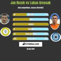 Jan Rezek vs Lukas Gressak h2h player stats