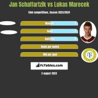 Jan Schaffartzik vs Lukas Marecek h2h player stats