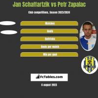 Jan Schaffartzik vs Petr Zapalac h2h player stats