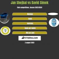 Jan Shejbal vs David Simek h2h player stats