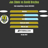 Jan Zidek vs David Brezina h2h player stats