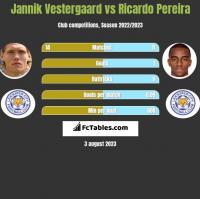 Jannik Vestergaard vs Ricardo Pereira h2h player stats