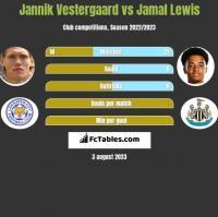 Jannik Vestergaard vs Jamal Lewis h2h player stats
